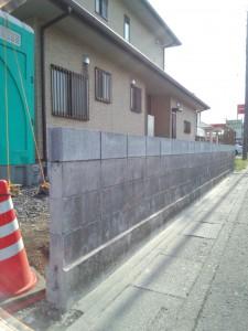 東松山の外構工事 ブロック積み