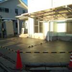 東松山市松山町外構工事コンクリート打設6