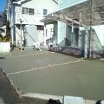 東松山市松山町外構工事コンクリート打設4