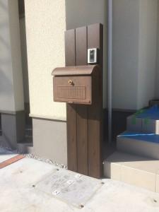 本庄市外構工事機能門柱