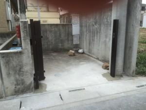 東松山市の伸縮門扉取付完了、樹木伐採工事完了!