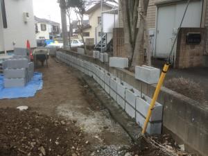 東松山市外構工事ブロック積み完成