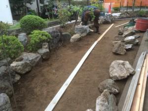東松山市のお庭工事、川越市外構工事完了!