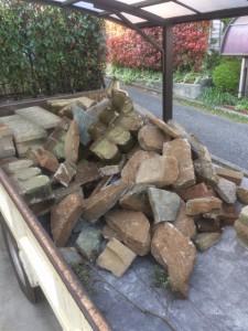 庭石、ブロック