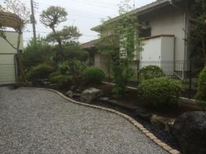 東松山お庭工事 完了1