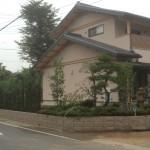 東松山市の外構造園工事 庭木の植込み