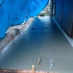 湯河原の外構造園工事 テラスコンクリート打設