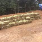 湯河原外構造園工事 ブロック積み、所沢市 芝生の納品