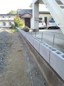 東松山の外構工事 ブロック積み3