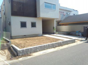 東松山あずま町庭工事①