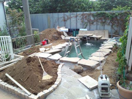 所沢池工事 水張り