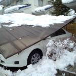 カーポート雪4