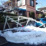 カーポート雪3