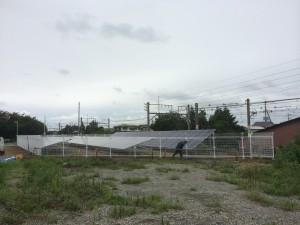 深谷市太陽光パネル外周フェンス工事1