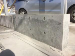 坂戸市RC工事完了、美里町庭コンクリート打設