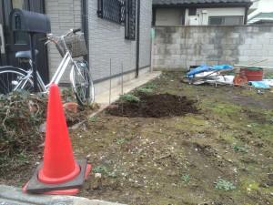 東松山市境界ブロック工事
