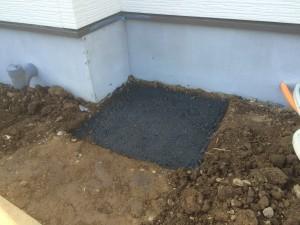 東松山市の新築コンクリート打設、伸縮門扉交換