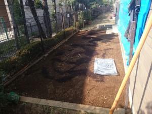 マンション専用の芝張り改良後