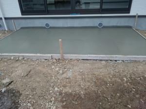 東松山市テラスコンクリート打設完了