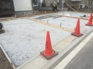 東松山市外構工事コンクリート段取り
