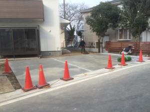 東松山市外構工事完了、川越市基礎左官