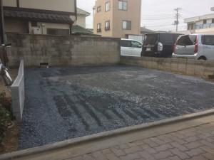 東松山市車庫&物置工事、桜の木伐採工事