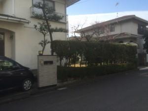 東松山市高坂ニュータウンのお庭工事着工、川越市外構工事の天然石乱張り
