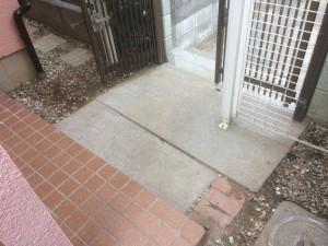 加須市のリフォーム外構工事 コンクリート打設、門扉取付
