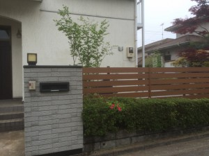 東松山お庭工事 シャラ植込