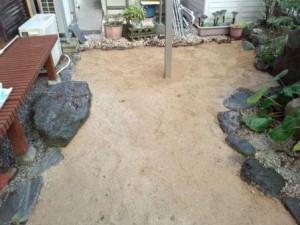 小川町の人工芝敷き