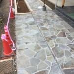 東松山市の外構造園工事 諏訪鉄平張り 完了
