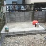 富士見市のお庭工事 ピンコロ並べ、東松山市のお庭工事 砂利敷き完了